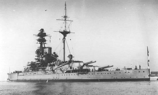 HMS Royal Sovereign (05) HMS Royal Sovereign 05 of the Royal Navy British Battleship of