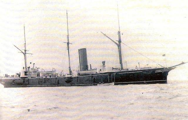 HMS Serpent (1887) Serpent Ruta de los naufragios