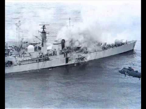 HMS Sheffield (D80) HMS SHEFFIELD THE FALKLANDS WARwmv YouTube