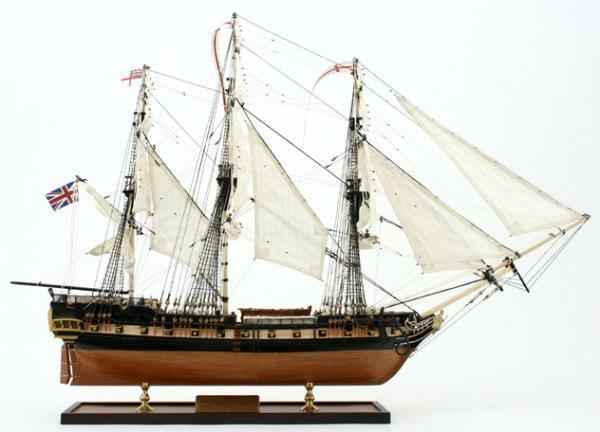 HMS Surprise (1796) HMS Surprise handcrafted model ship England 1794