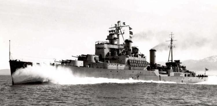HMS Uganda (66) HMCS Quebec C31 Crown Colony class light cruiser Royal Canadian Navy