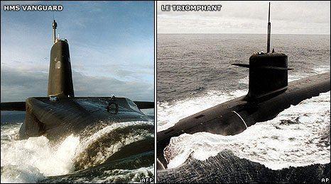 HMS Vanguard and Le Triomphant submarine collision newsimgbbccoukmediaimages45482000jpg45482