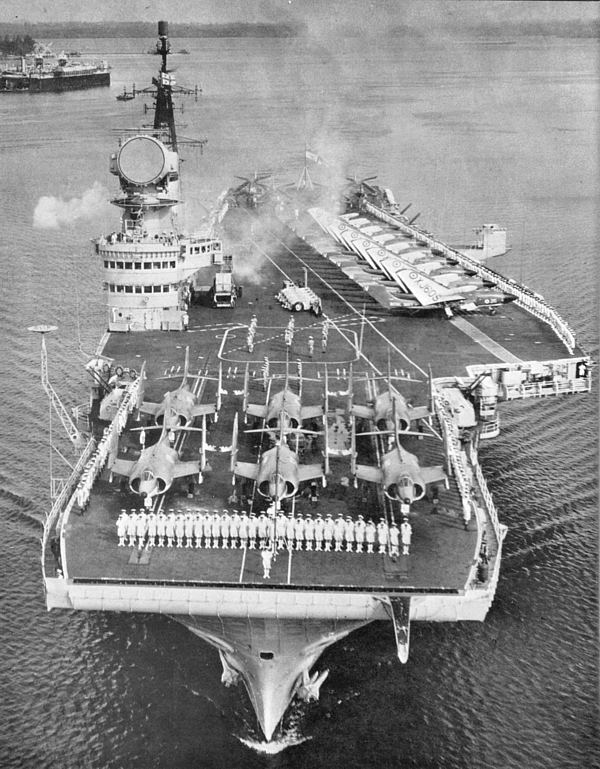 HMS Victorious (R38) HMS Victorious R38 Procedure Alpha Subic Bay Jan 1965 Navy Net