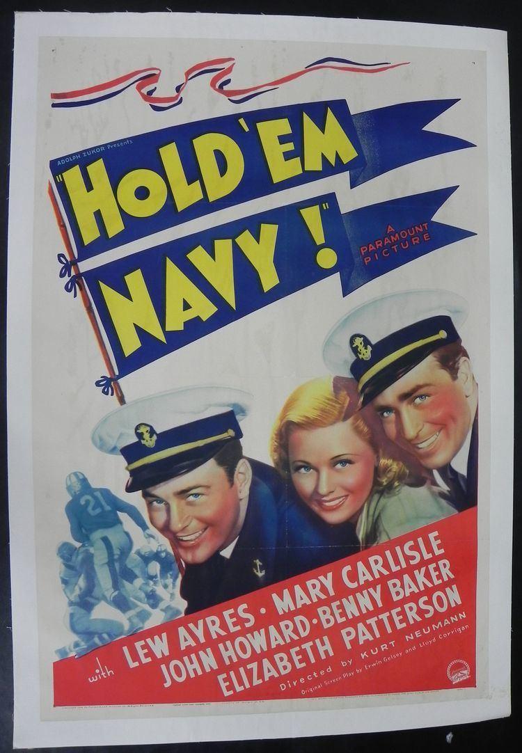 Hold 'Em Navy Lot Detail 1937 Hold Em Navy One Sheet Movie Poster