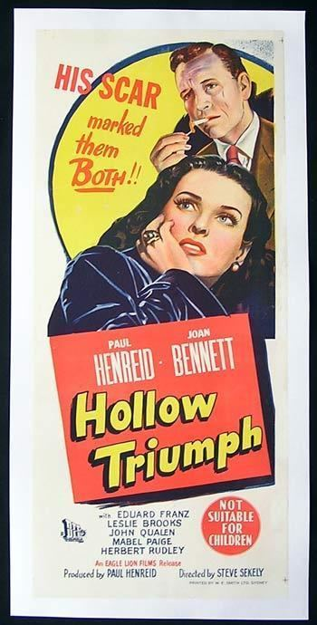 Hollow Triumph HOLLOW TRIUMPH aka THE SCAR 1948 Paul Henreid FILM NOIR CLASSIC