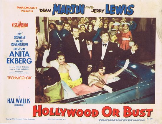 Hollywood or Bust HOLLYWOOD OR BUST 1956 Dean Martin and Jerry Lewis ORIGINAL US Lobby