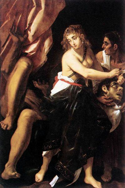 Holofernes JUDITH in the BIBLE famous paintings of the murder of Holofernes
