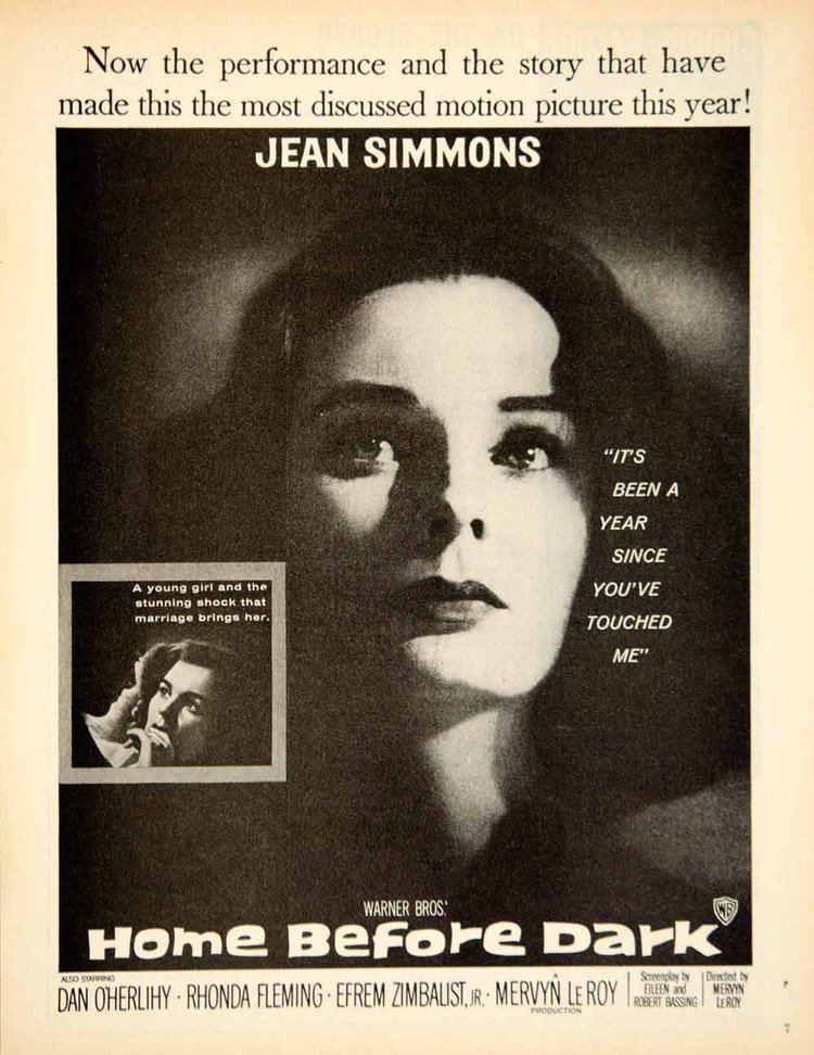 Home Before Dark (film) 1958 Ad Movie Home Before Dark Jean Simmons Mervyn LeRoy Dan O