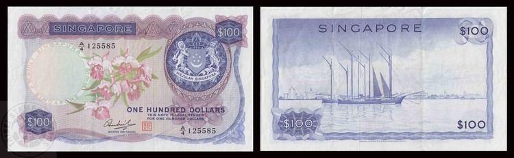 Hon Sui Sen Singapore Orchid Series 100 Dollars banknote signatory