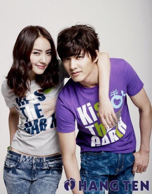 Hong In-young Won Bin amp Hong Inyoung for Hang Ten