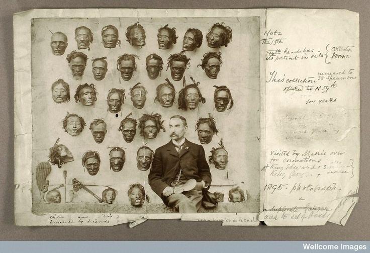 Horatio Gordon Robley Major General Horatio Gordon Robley with his collection of