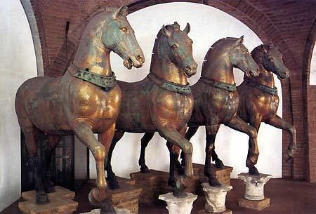 Horses of Saint Mark The Four Horses Rest Inside St Mark39s Basilica in Venice after