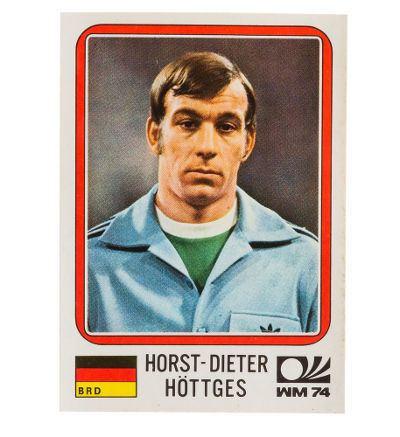 Horst-Dieter Höttges Panini Mnchen 74 Sticker Nr 86 HorstDieter Httges WM 1974
