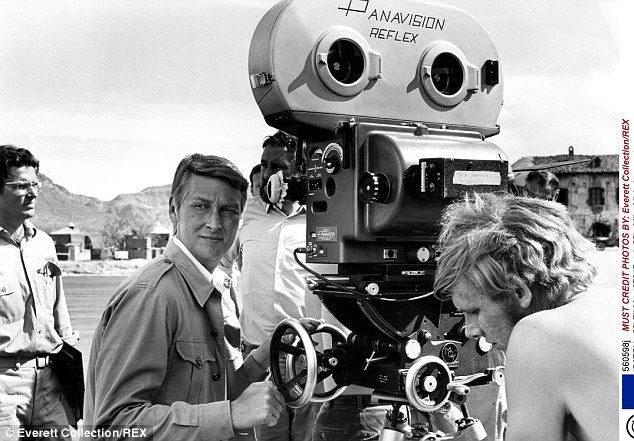How Do I Love Thee? movie scenes Director Mike Nichols pictured behind the camera in 1970 on the set of the movie Catch