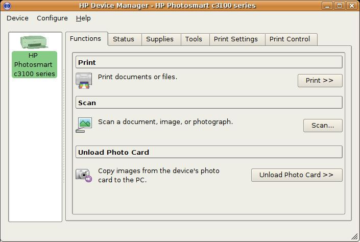 HP Linux Imaging and Printing