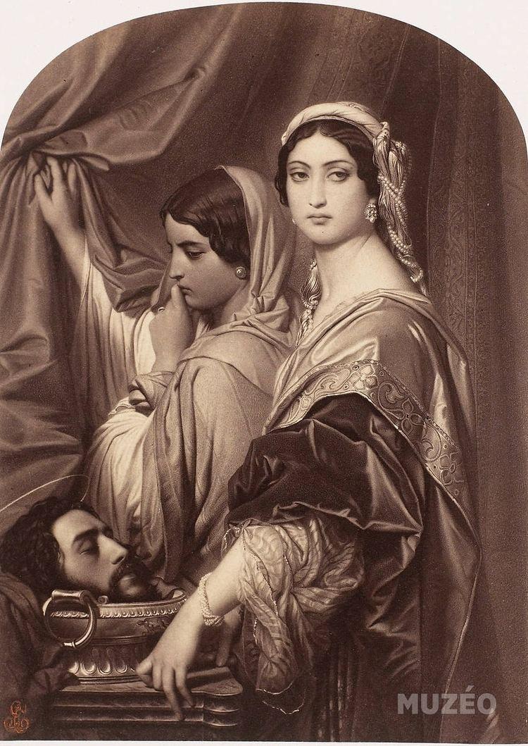 Hérodiade Hrodiade aves la tte de saint JeanBaptistequot tableau de Paul