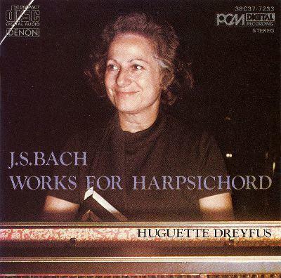 Huguette Dreyfus JS Bach Works for Harpsichord Huguette Dreyfus