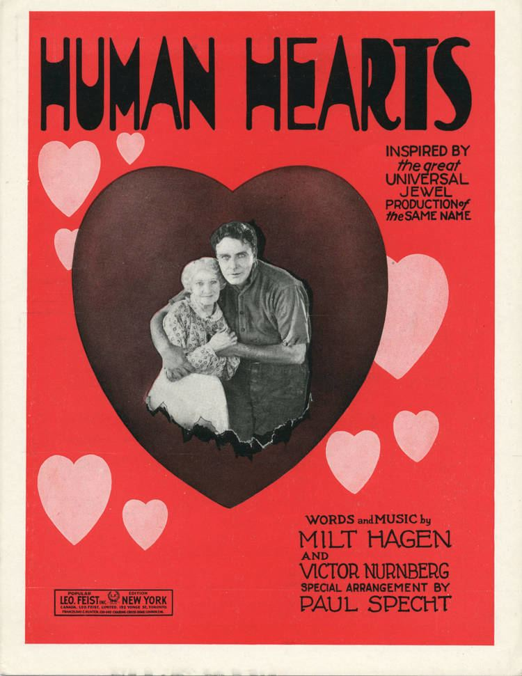 Human Hearts (film) FileSheet music cover HUMAN HEARTS FOX TROT BALLAD 1922jpg