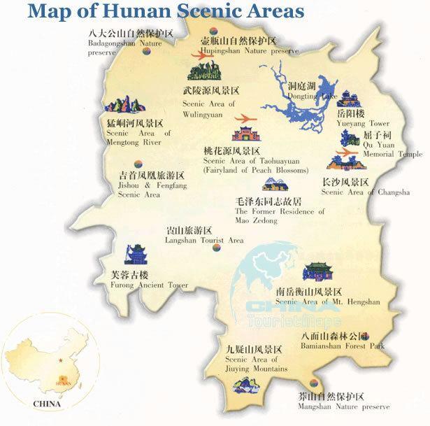 Hunan Tourist places in Hunan