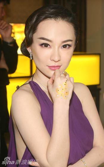 Huo Siyan Actress Huo Siyan with luxurious jewelries Chinaorgcn