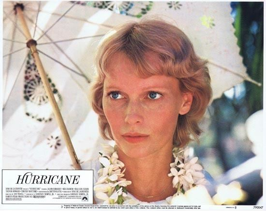 Hurricane (1979 film) HURRICANE 1979 Lobby Card 2 Mia Farrow portrait