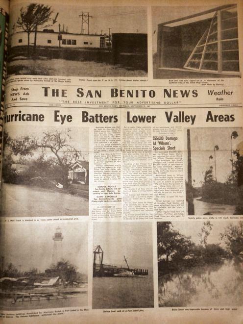 Hurricane Beulah Looking Back at Beulah Hurricane eye batters lower Valley areas