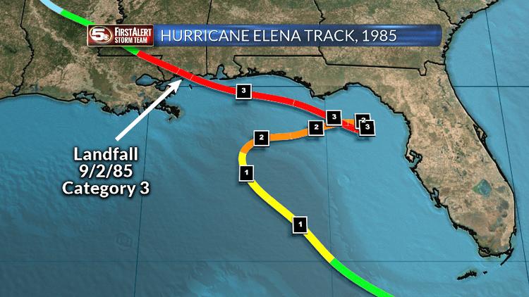 Hurricane Elena Hurricane Elena in 1985