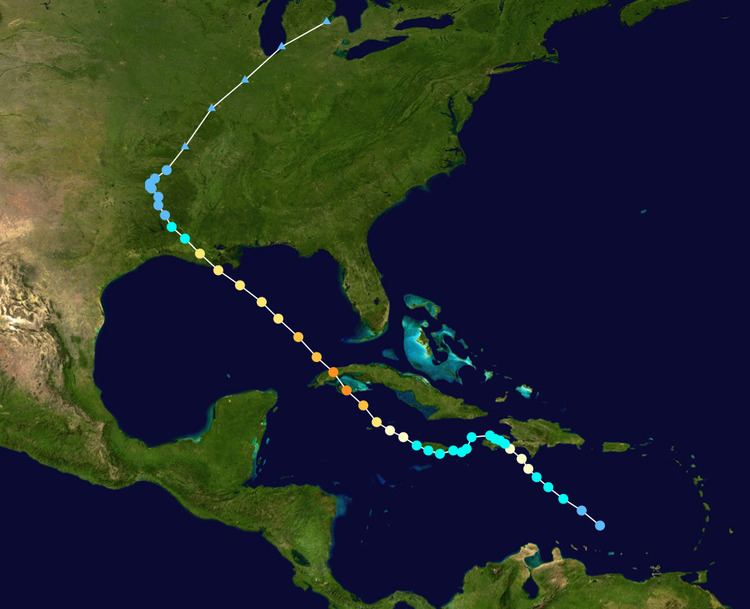 Hurricane Gustav Meteorological history of Hurricane Gustav Wikipedia