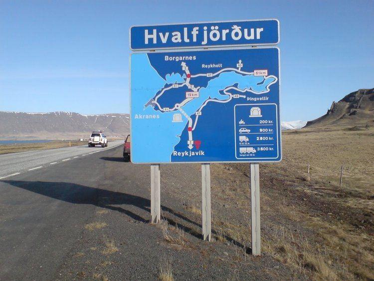 Hvalfjörður Tunnel Panoramio Photo of jvegur 1 ring road sign about Hvalfjrur