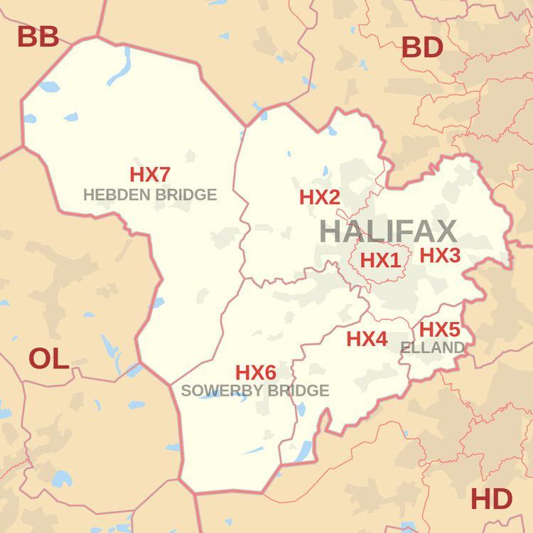 HX postcode area
