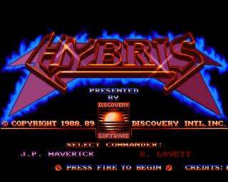 Hybris (video game) Hybris Screenshots for Amiga MobyGames