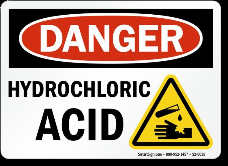 Hydrochloric acid Hydrochloric Acid Signs Flammable Chemicals