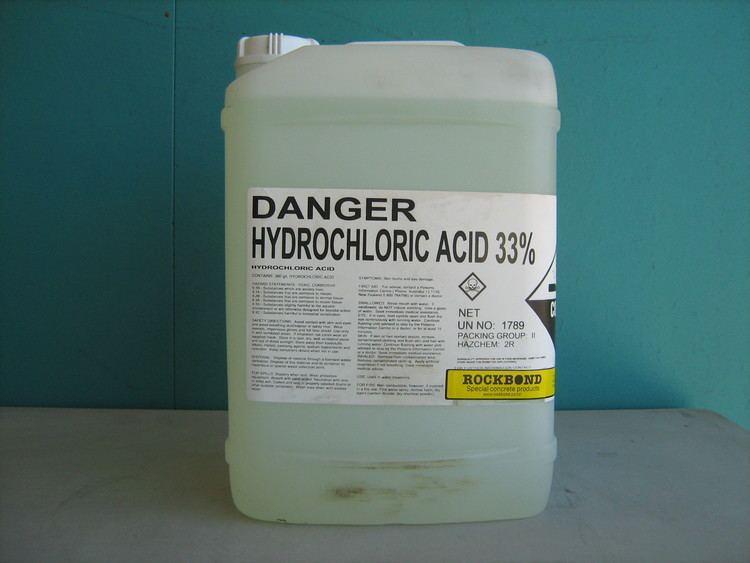 Hydrochloric acid Hydrochloric Acid Spirits of Salts 20lt Rockbond