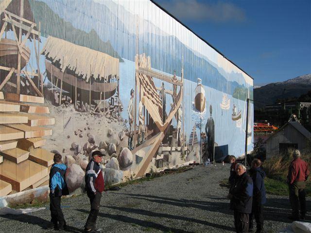 Høylandsbygd shipping mural