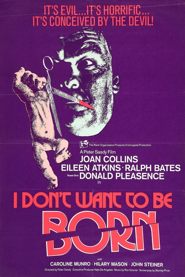 I Don't Want to Be Born I Dont Want to Be Born UK poster MONDO EXPLOITO