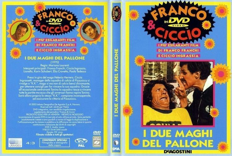 I due maghi del pallone Copertina dvd Franco E Ciccio I Due Maghi Del Pallone cover dvd