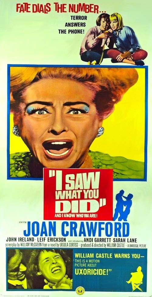 I Saw What You Did I SAW WHAT YOU DID DVD 1965 Movie on DVD Teen Girls Make Prank