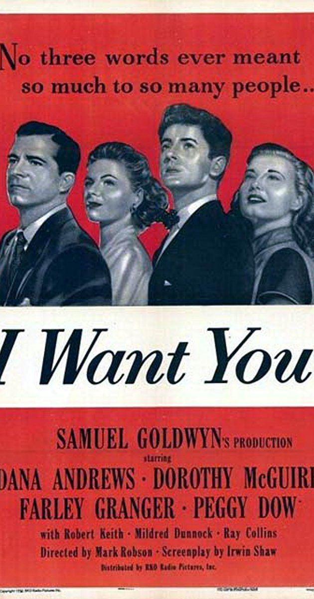 I Want You (1951 film) I Want You 1951 IMDb