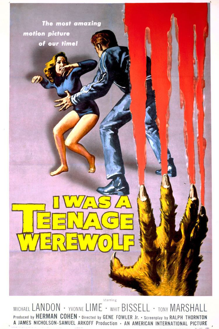 I Was a Teenage Werewolf wwwgstaticcomtvthumbmovieposters1327p1327p
