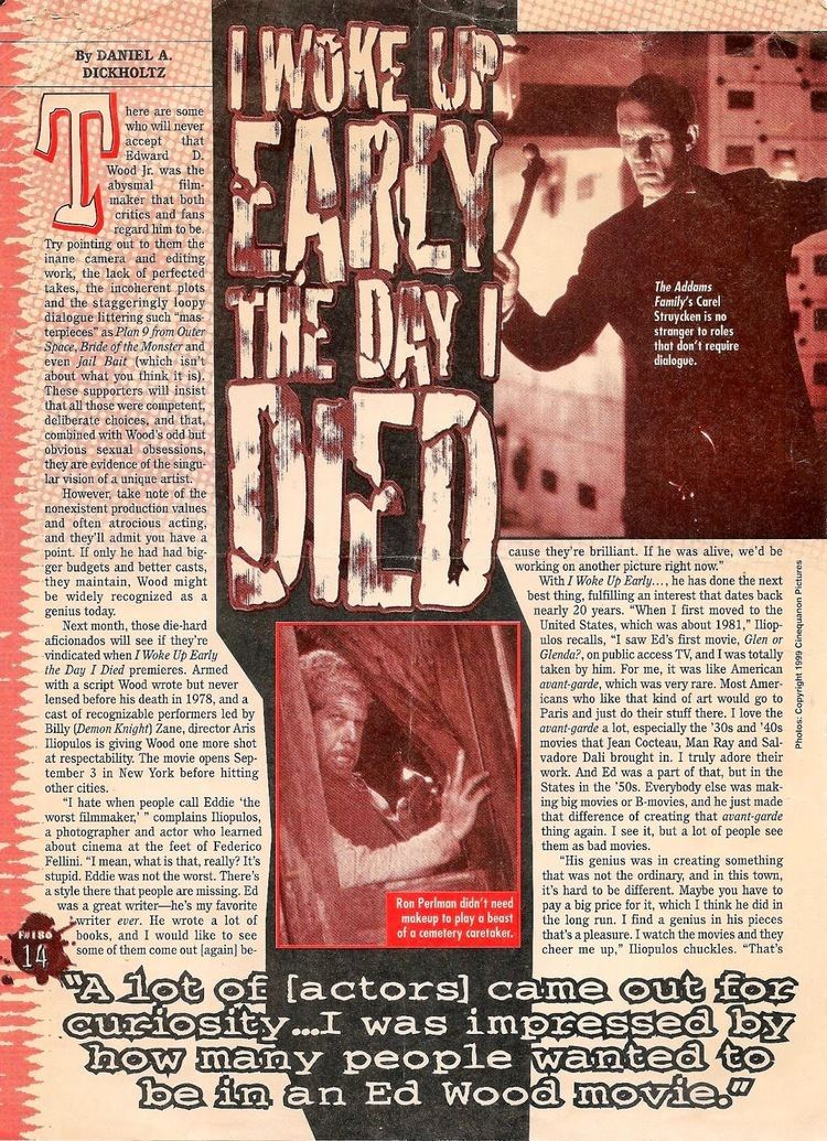 I Woke Up Early The Day I Died Dead 2 Rights Ed Wood Wednesdays week 42 I Woke Up Early the Day