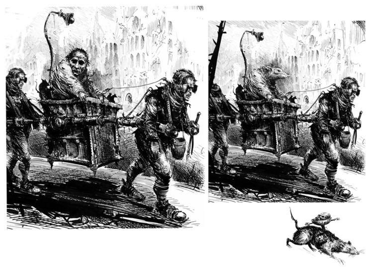 Ian Miller (illustrator) wwwalisoneldredcomimagesIanMillerAEldredIanMi