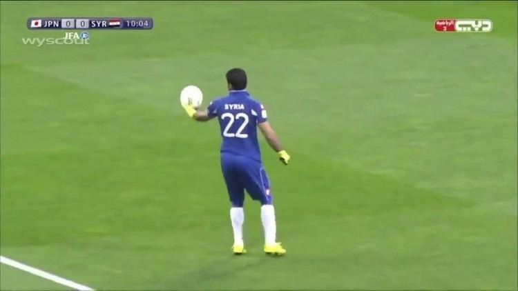 Ibrahim Alma Strange clearance by Syrian goalkeeper Ibrahim Alma YouTube