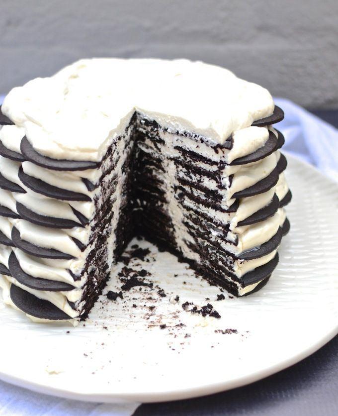 Icebox cake 100 Icebox Cake Recipes on Pinterest Strawberry icebox cake No
