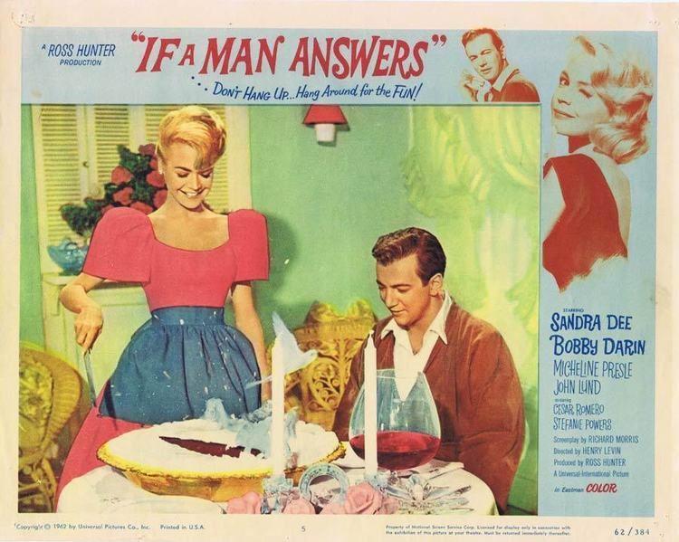 If a Man Answers IF A MAN ANSWERS Lobby card 5 Sandra Dee Bobby Darin