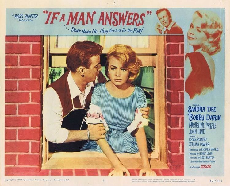 If a Man Answers IF A MAN ANSWERS Lobby card 8 Sandra Dee Bobby Darin