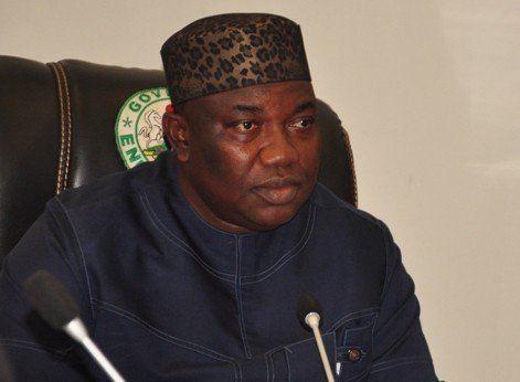Ifeanyi Ugwuanyi Governor Ugwuanyi swears in ENSIEC chairman Mike Ajogwu others