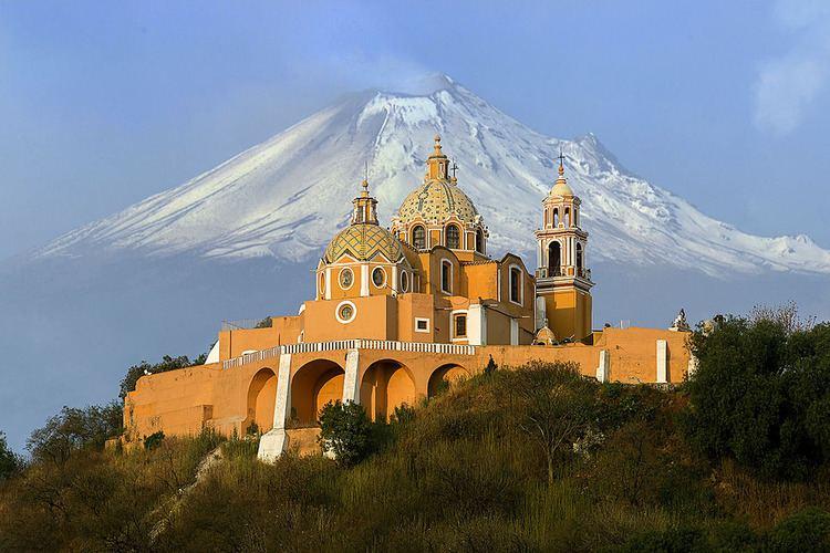 Iglesia de Nuestra Señora de los Remedios (Mexico) Iglesia de Nuestra Seora de los Remedios y el Volcan Popo Flickr