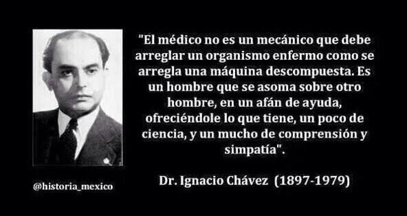 Ignacio Chávez Sánchez Lucero Snchez on Twitter Sabas palabras de Dr Ignacio Chvez