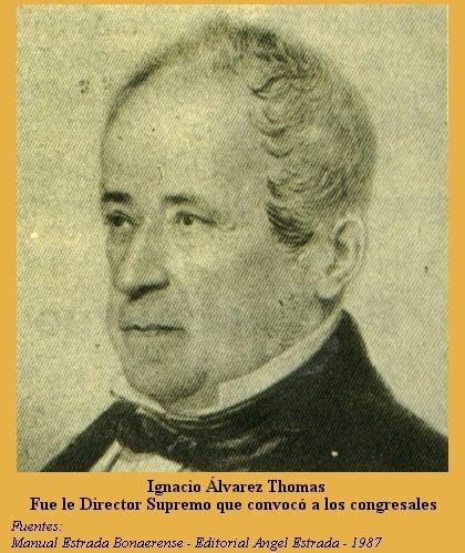Ignacio Álvarez Thomas Figuritas 9 de Julio Da de la Independencia