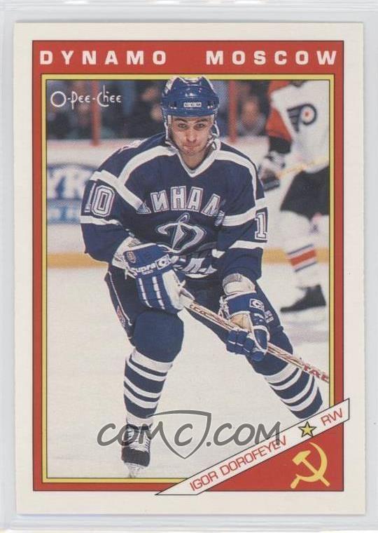 Igor Dorofeyev 199192 OPeeChee Russians 32R Igor Dorofeyev COMC Card